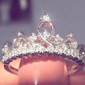 Fashion Luxury Crown Ring Statement Women Wedding